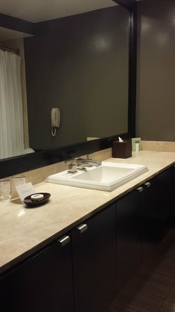 Luxe Sunset Boulevard Hotel: Bath Sink & Spacious Counter