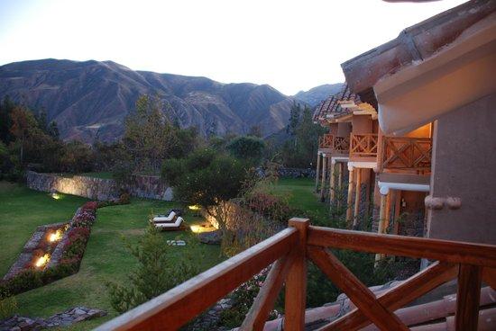 Casa Andina Premium Valle Sagrado Hotel & Villas: Vista desde el balcon de la habitación