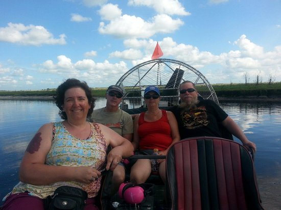 Old Fashioned Airboat Rides: My gang on the boat