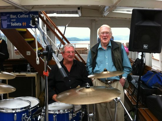 Bowness-on-Windermere, UK: The drummers apprentice?