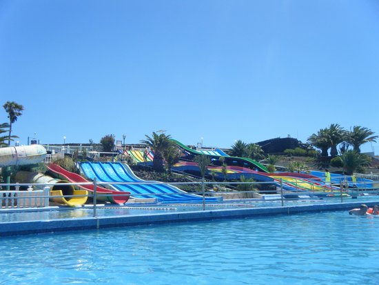 Aquapark Costa Teguise : Half decent sized swimming area. Was not dirty as far as we could see