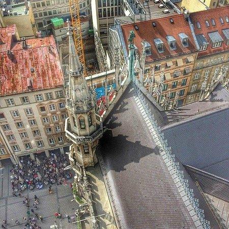 Marienplatz: Вид с Ратуши