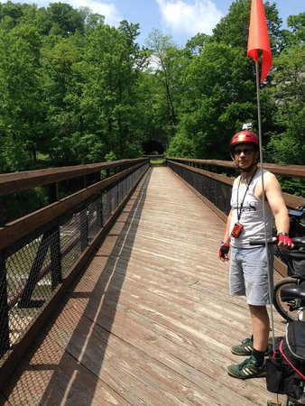 Great Allegheny Passage Trail: There are quite a few bridges along the trail and each is safe, smooth and offers great views.