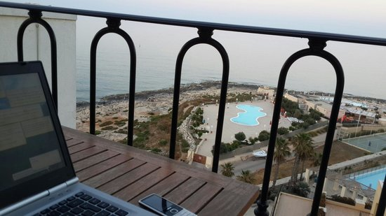 Hilton Malta: View from my room at 11th floor, executive room