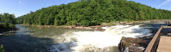 Great Allegheny Passage Trail: Mid-point between Cumberland and Pittsburgh is Ohiopyle which is famous for its waterfalls