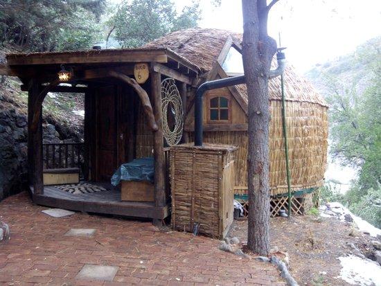 Cascada de las Animas: La cabaña
