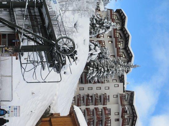 La Tania Ski Area: The Grand Bois flats in La Tania, great location and views