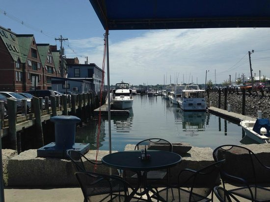 J's Oyster: View from out table