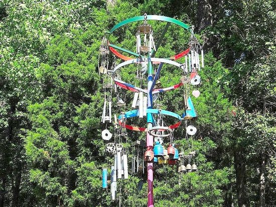 Museum of Life + Science : multiple windchimes