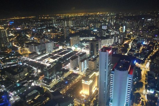 1-Altitude Gallery & Bar : Night view of Singapore