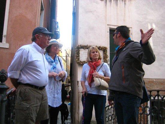 Tour Leader Venice: ...Igor providing interesting information....