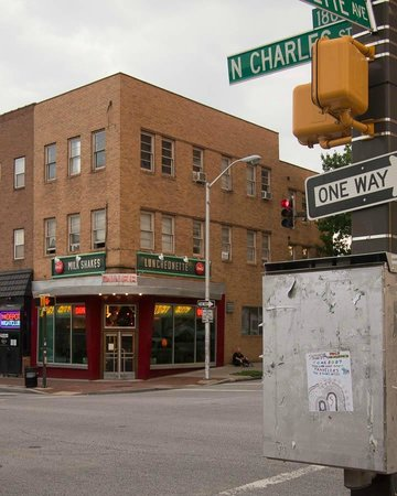 Lost City Diner: Corner of Charles and Lexington