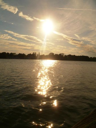 Sunset over Maschsee