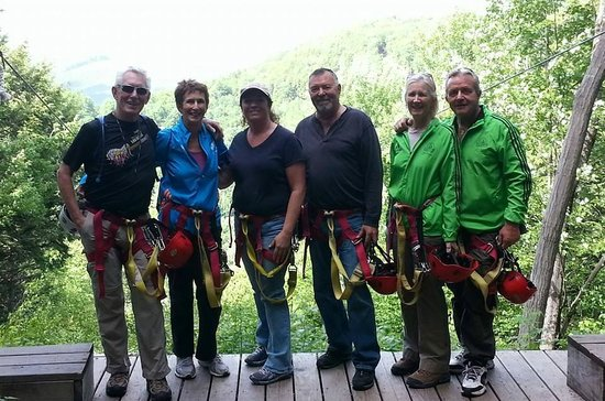 Berkshire East Canopy Tours: group of six ages 55 to 71
