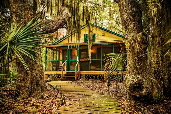 The Lodge on Little St. Simons Island: The Michael Cottage, a private two bedroom, two bath cottage with an outdoor shower and deck.