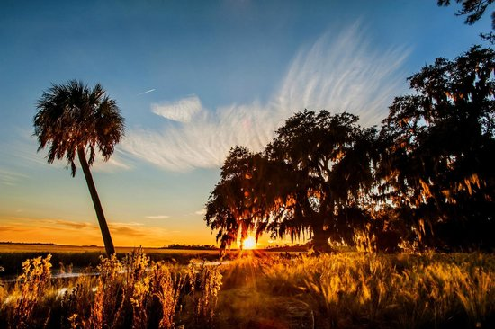 The Lodge on Little St. Simons Island: Sunset Over the Marsh