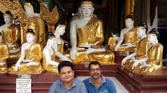 Shwedagon Pagoda: At Shwedagon