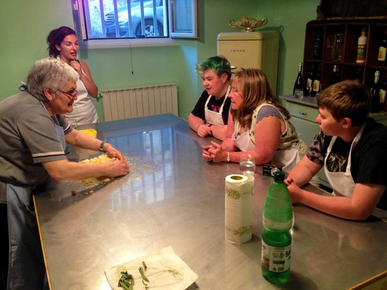 Eating Italy Food Tours: The spacious kitchen where Nonna teaches her craft.