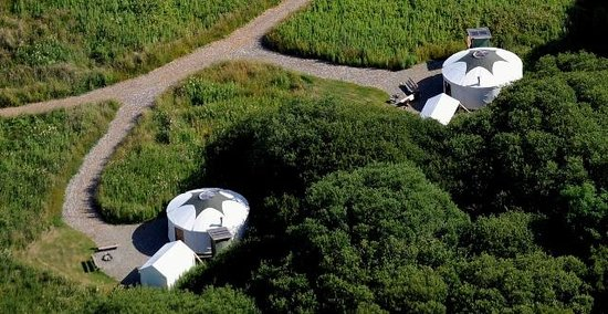 Florence Springs Yurt Village: Aerial - Close up