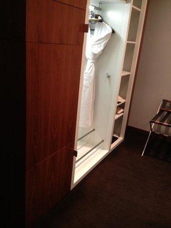 Sofitel Berlin Kurfürstendamm: the dressing area.  plenty of closet space as well as drawers and shelves.