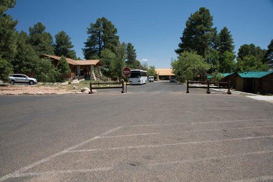 Grand Canyon Lodge - North Rim: It's a long way to the lobby, baby.  Welcome to the Grand Canyon Lodge.