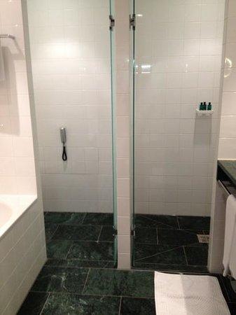 Sofitel Berlin Kurfürstendamm: separate spacious shower, privacy toilet, double sink