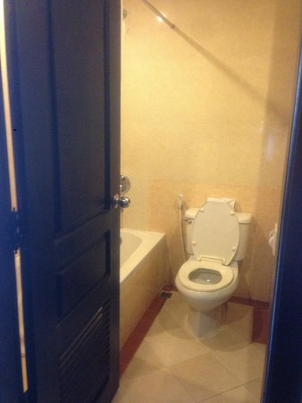 Angkor Riviera Hotel: bathroom with handheld bidet, shower attached to wall