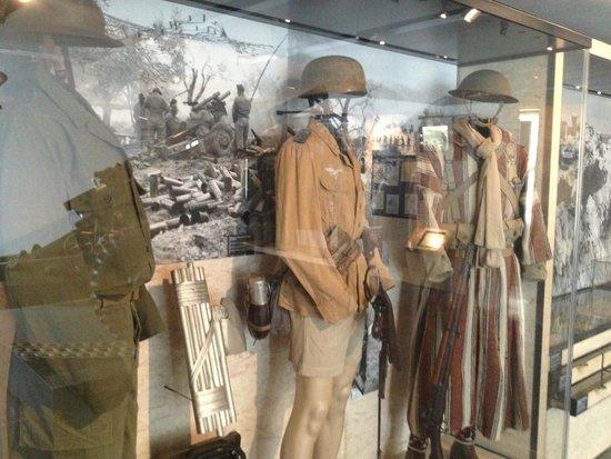 Museo de la Armada: uniforme inglês wwII