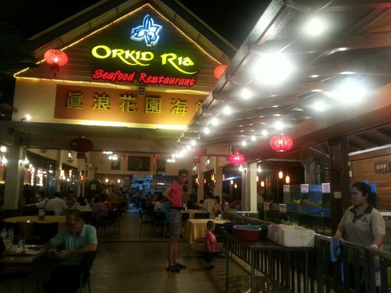 Orkid Ria Seafood Restaurant: Main entrance