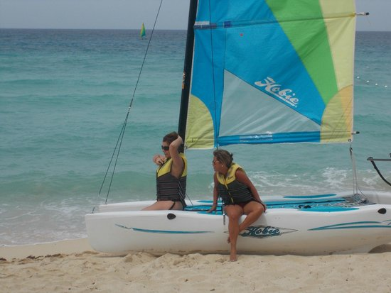 Viva Wyndham Dominicus Palace: Catamaran is available