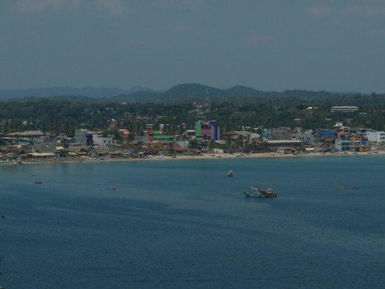 "Trincomalee Beach: ""City of Trincomalee"" as seen from Koneswaram Temple, Trincomalee, sri lanka"
