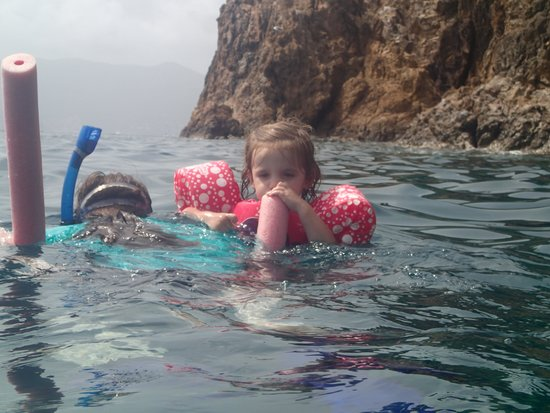Born to Rhumb Charters : Snorkeling with a little one in tow