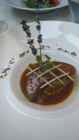 Le Manoir: Foie gras with apples