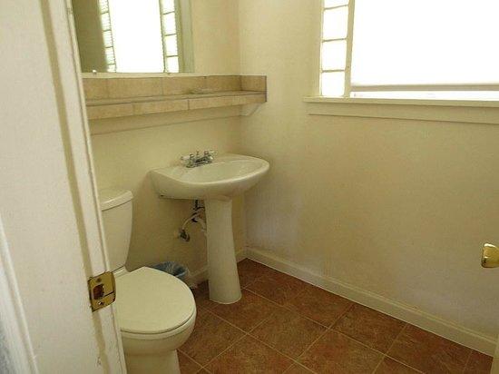 Bluewolf Motel: updated bathroom