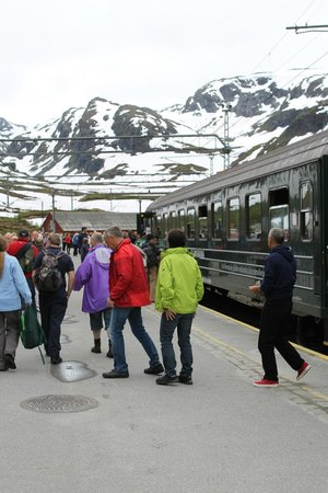 The Flam Railway : A quick stop before heading back to Flam