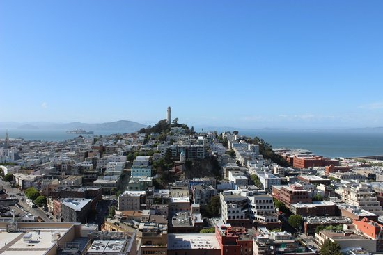 Hilton San Francisco Financial District : Telegraph Hill and Alcatraz from our room