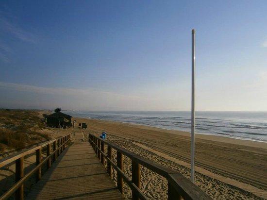 La Marina Camping & Resort: Pasarela que lleva desde el camping a la Playa