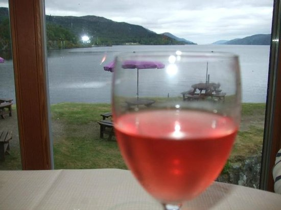 The Boathouse Lochside Restaurant: View from table