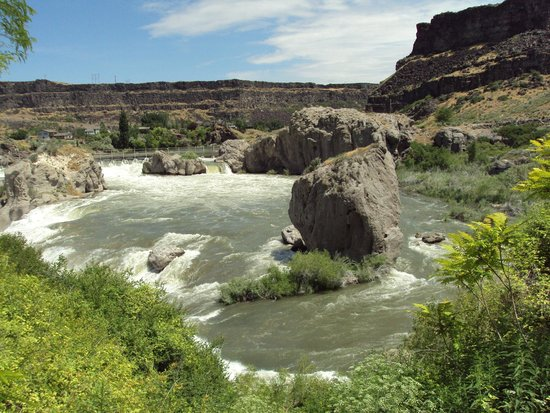 Top of Shoshone Falls and Snake River