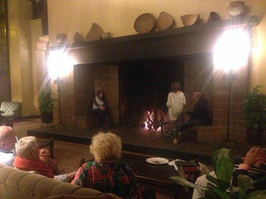 The Majestic Yosemite Hotel: fireplace