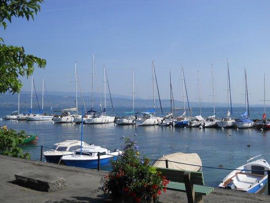 VVF Villages Evian : le petit port de Evian