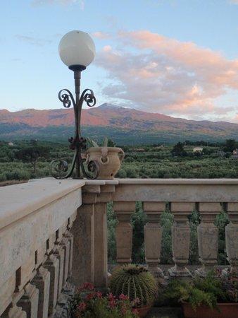 Hotel Feudo Vagliasindi: Blick von der Terrasse