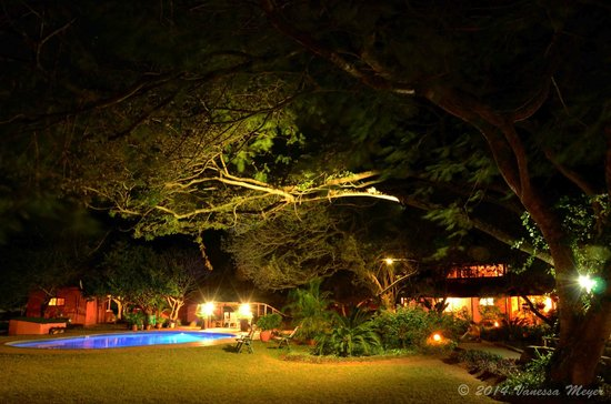 Bushbaby Lodge & Camping: night exposure of grounds