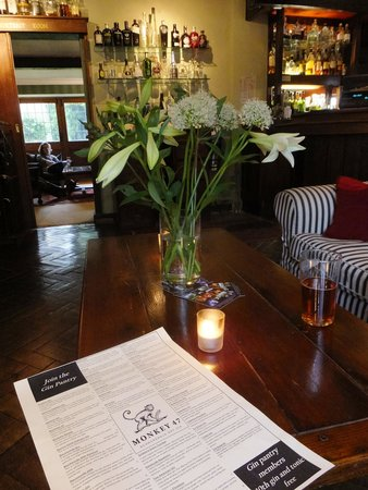 The Cotswold Plough Hotel & Restaurant: Perusing the Gin Pantry list