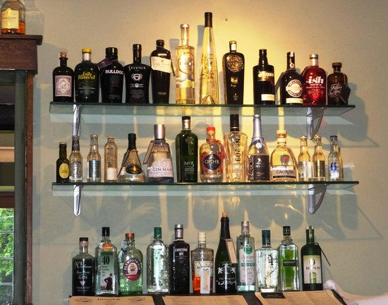 The Cotswold Plough Hotel & Restaurant: Part of the Gin Pantry
