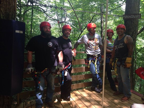 RidgeRunner Ziplines: June 16, 2014 - had a blast!
