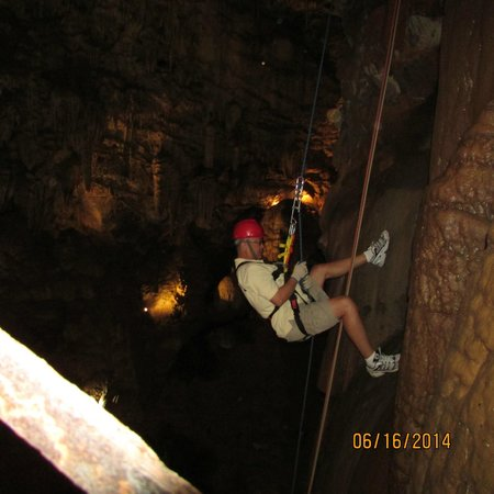 Free rappel experience at Moaning Caverns 061614