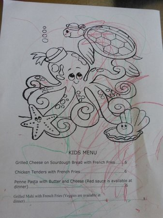 Striper Bites Kids Menu
