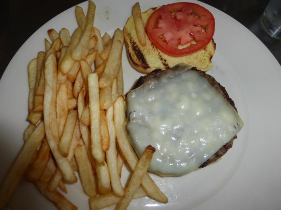 Striper Bites Burger & Fries