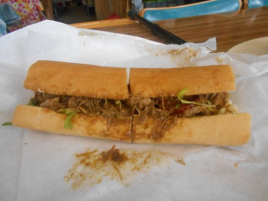 Crabby Jack's: The duck po-boy, a thing of beauty!
